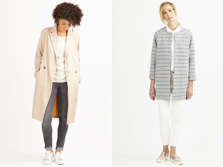 Schlichte Jacken und Mäntel