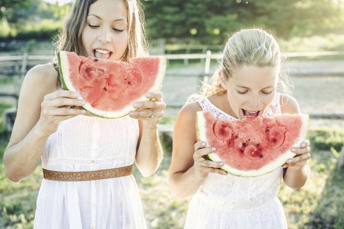 Melone spendet trockener Sommerhaut Feuchtigkeit