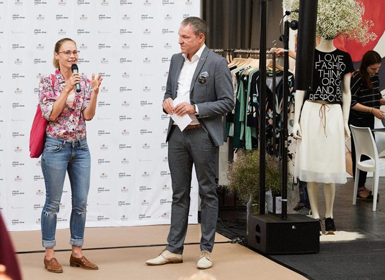 Inez Bjørg David auf der Berlin Fashion Week