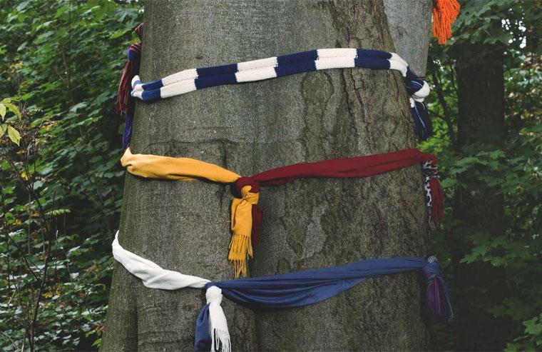 nachhaltig hergestellte Schals