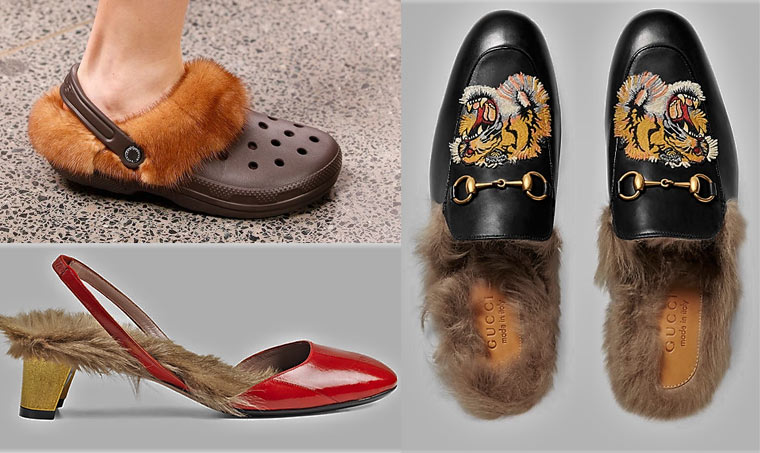 Echtpelz Schuhe