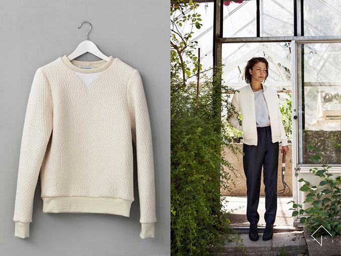 Pullover und Model