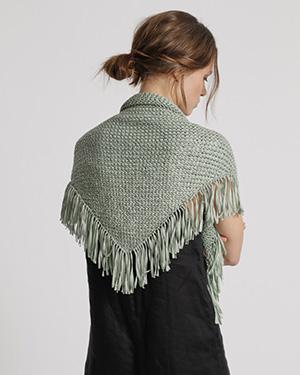 Schal aus nachhaltigen Textilien