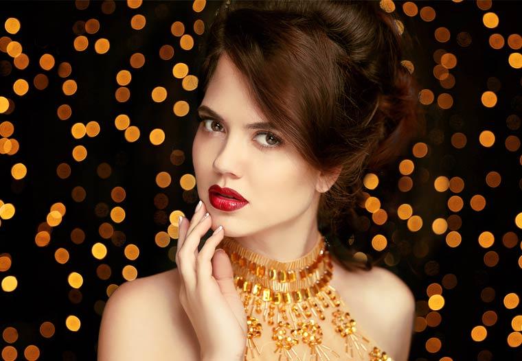 Festliches Weihnachts-Make-up