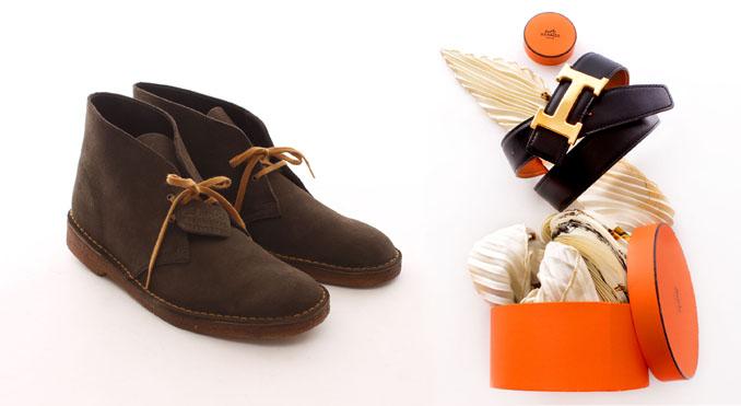 Schicke Boots von Clarks und elegante Gürtel von Hermes sind nur zwei von vielen Produkten bei ©Vite EnVogue