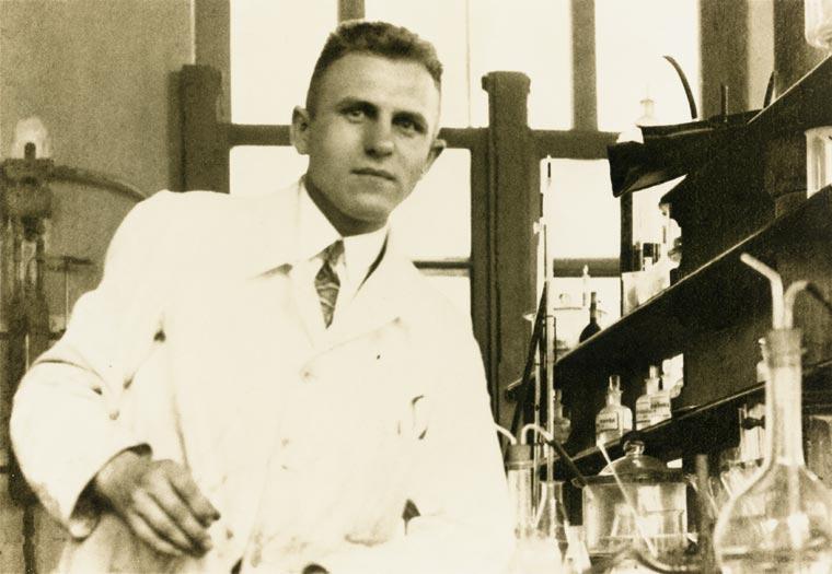 Dr. Felix Grandel im Labor