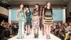 Mode geballt, grüne Seite der fashion Week