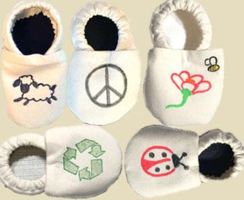 Süße Recycling-Schlappen für Kinder ©Kaya's Kloset