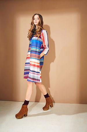 Farbenfrohes Kleid von Lanius, garantiert fair!