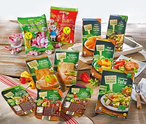 Diese Produkte von ALDI SÜD tragen bereits das V-Label. © Unternehmensgruppe ALDI SÜD