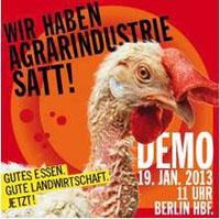 BUND Demo gegen Agrarindustrie