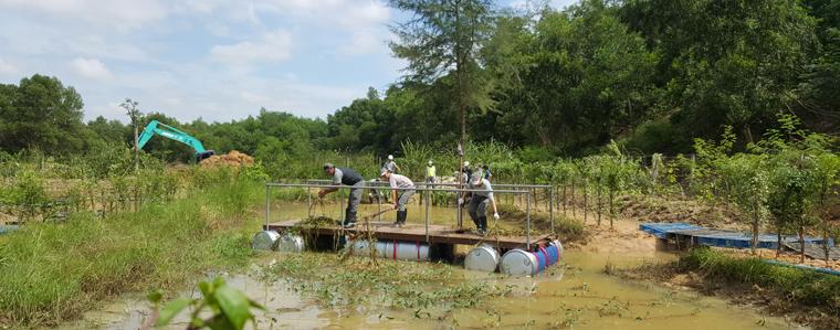 Bis Februar 2016 soll am Werksstandort in Thailand ein Biotop errichtet werden