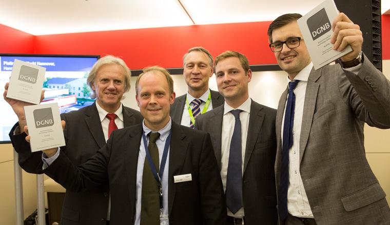 Das Projekt Platin Netto Markt Hannover erhält von Hermann Horster das DGNB Zertifikat in Platin