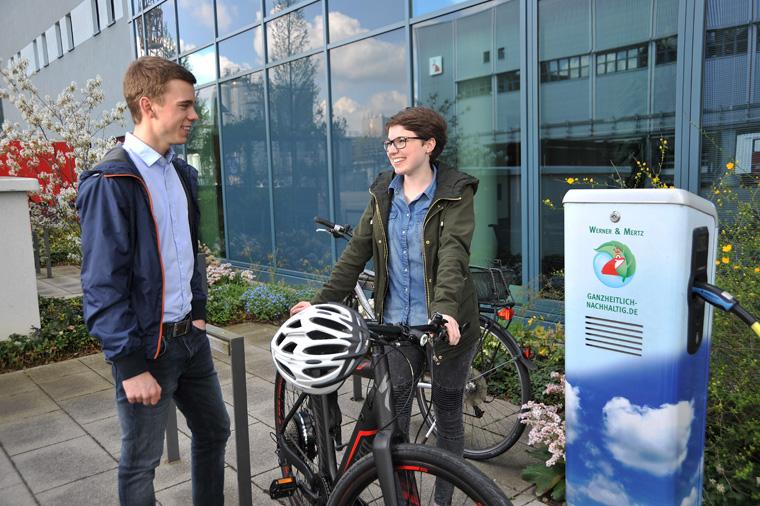 Werner & Mertz bietet ihren Mitarbeitern Fahrräder und E-Bikes an.