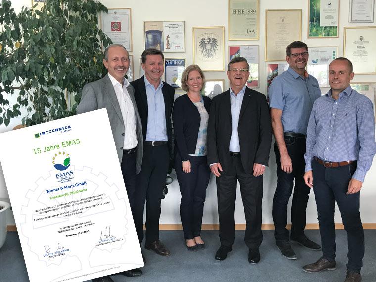 Werner & Mertz erhält erneut EMAS-Zertifizierung