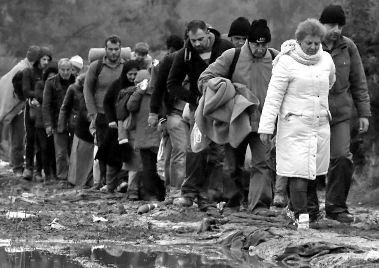 Als freiwilliger Helfer in Zákány wurde Robert Békési täglich Zeuge von Bildern wie diesem