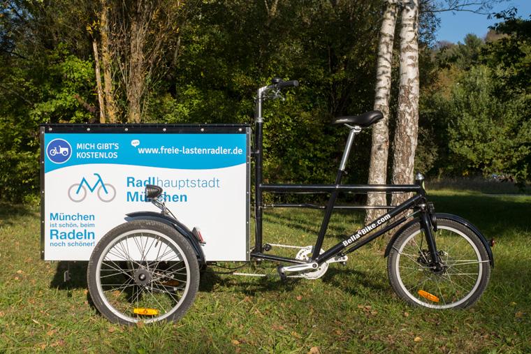 München bietet kostenlose Lastenräder an