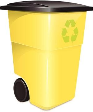 Gelbe Tonen gelber Sack Recycling