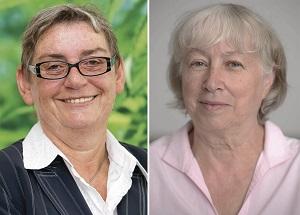Die beiden Gewinnerinnen: links Carmen Hock-Heyl und rechts Ursula Sladek © DBU/Daniel Karmann; Patrick Seeger