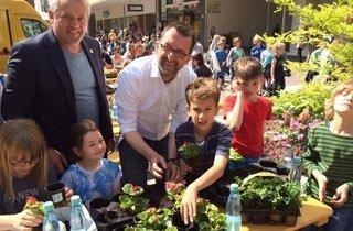 Pop-up-Park macht Ludwigshafen grün