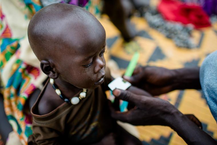 Spendenaufruf gegen die Hungersnot in Afrika