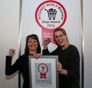 InteriorPark mit Internet World Business Shop Award ausgezeichnet