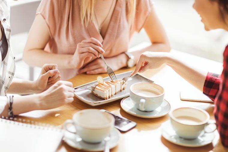 Hier finden auch Veganer Kaffee, Kuchen und Snacks