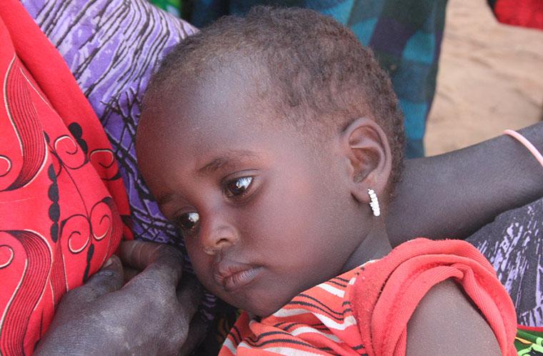Viele Kinder leiden unter Ernährungs- und Wassermangel.