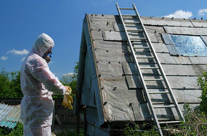 Asbest erkennen und eine tickende Zeit en in Gebäuden