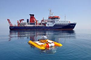 Forschungsschiff des Geomar Instituts