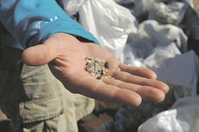 Mikroplastikpartikel Meer