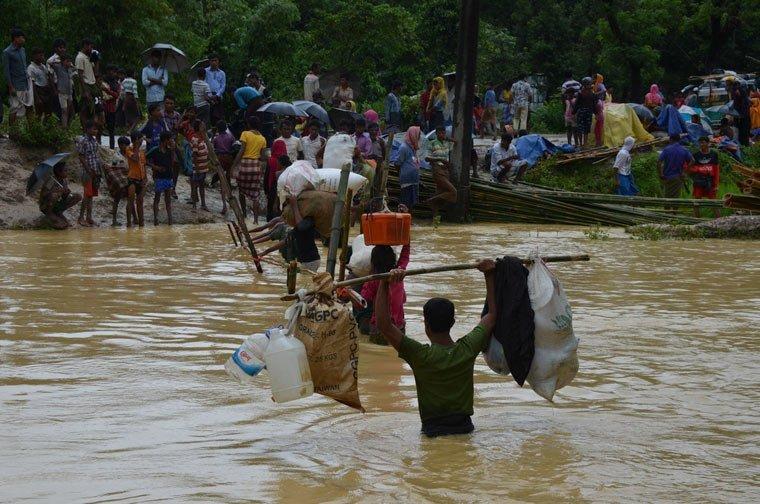 Im Krisengebiet Myanmar und Bangladesch wird dringend Hilfe benötigt