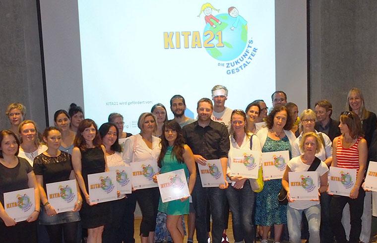 Nachhaltige Bildung schon für die ganz Kleinen - dafür gibt es die KITA21-Plakette