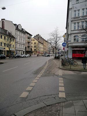 Radweg_Rosenheimer_STraße