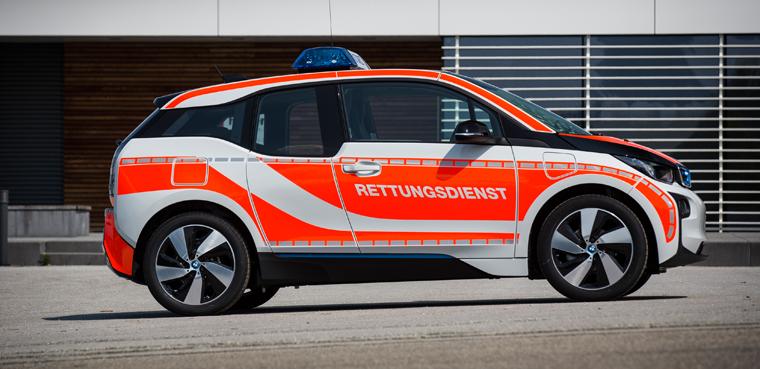 Neuerdings gibt es auch elektrische Einsatzfahrzeuge für Polizei, Rettungsdienste, Notärzte, Geldtransporte und die Feuerwehr.