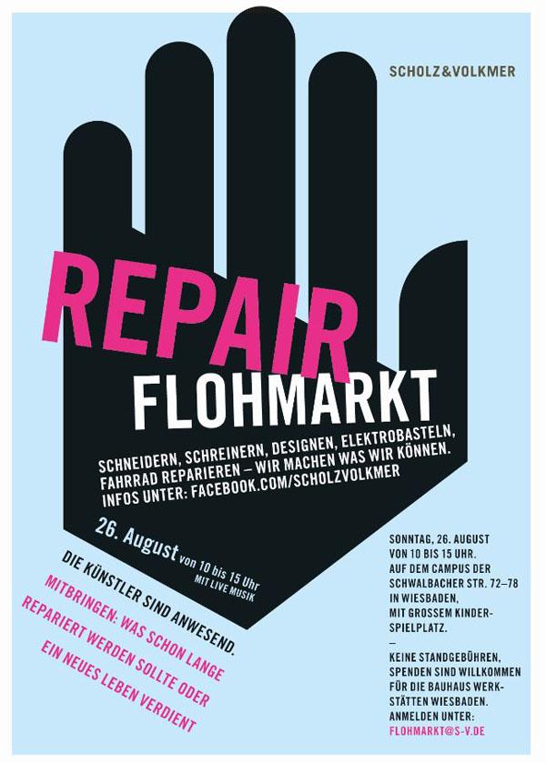 Flyer des Repair - Flohmarktes