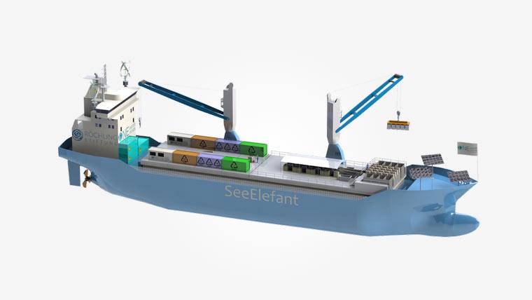 Müllverwertungsschiff SeeElefant
