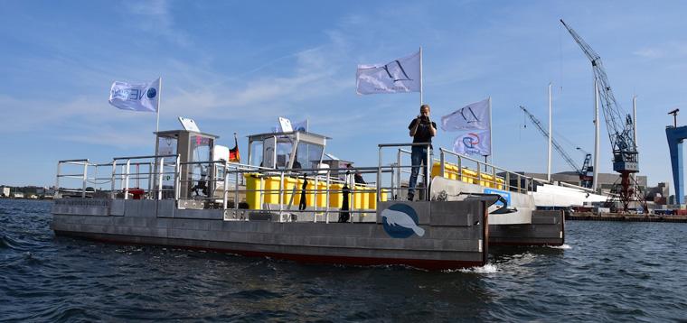 Das Müllsammelschiff Seekuh wurde jetzt für den Bundespreis ecodesign 2016 nominiert.