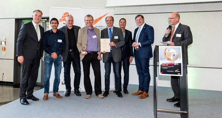 Das Sonnenhaus Institut durfte den renommierten Preis in der Kategorie ?Solare Architektur und Stadtentwicklung? entgegennehmen