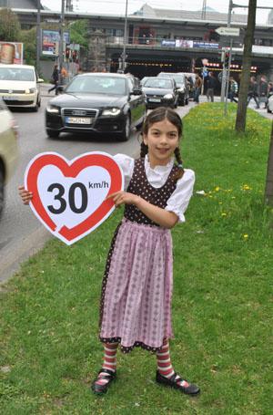 Auch die Bürger wünschen sich Tempo 30 © Juliane Gregor/ Green City e.V.