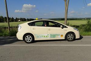 Umweltfreundliches Taxi