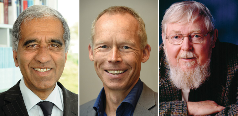 Die Preisträger: Prof. Dr. Mojib Latif, Prof. Dr. Johan Rockström und Prof. em. Dr. Michael Succow