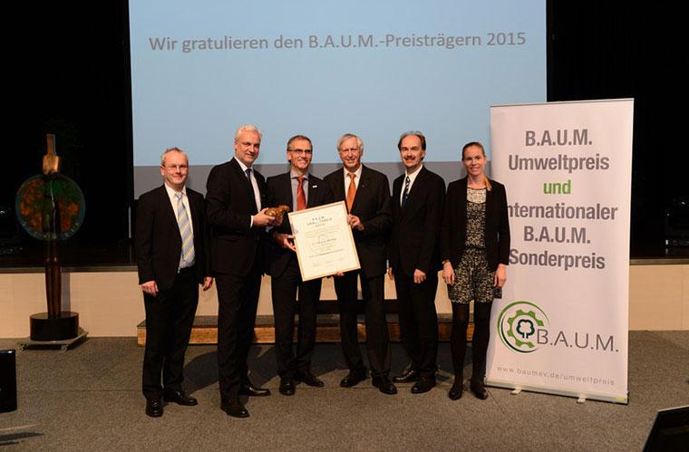 Verleihung BAUM Umweltpreis 2015