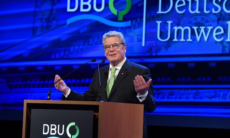 Auch in diesem Jahr wird der Deutsche Umweltpreis vom Bundespräsidenten übergeben