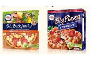 Wagner Pizzen Backfrische und Big Pizza