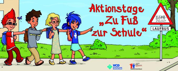 Zu Fuß zur Schule: Kinder lernen mehr Sicherheit im Straßenverkehr und leisten gleichzeitig einen wichtigen Beitrag zum Klimaschutz © www.zu_fuss_zur_Schule.de