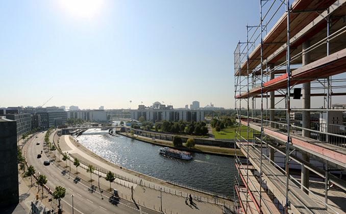 In unmittelbarer Reichtweite zum Regierungsviertel entsteht der HumboldtHafenEins © OVG Real Estate