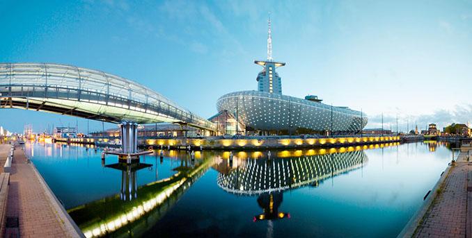 Das Klimahaus Bremerhaven 8° von außen fast so spannend, wie von innen © M. Meyer / Klimahaus