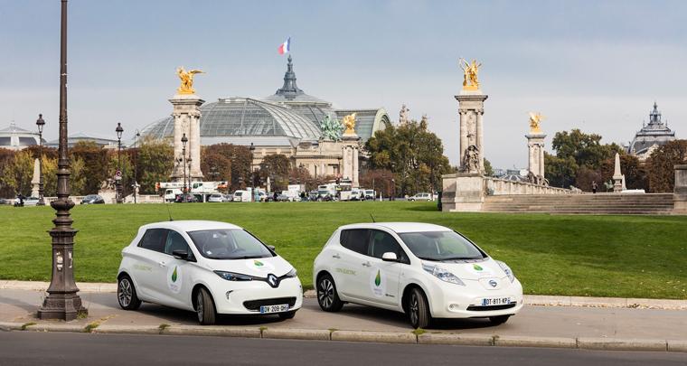 Für den Shuttleservice kommen beim UN-Klimagipfel nur Elektroautos zum Einsatz
