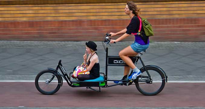 Fahrrad fahren schont die Umwelt